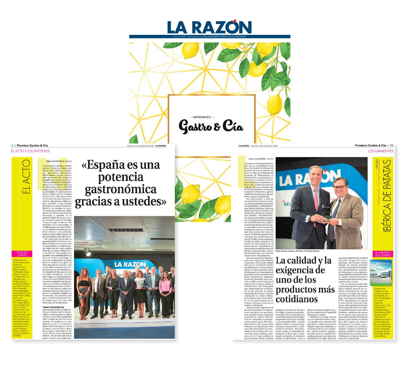 Premios Gastro & Cia - Ibérica de Patatas
